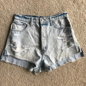 Abercrombie & Fitch High Rise Cutoff Shorts